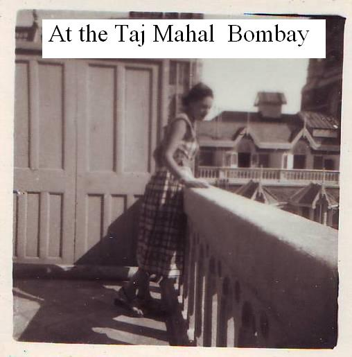 At the Taj Mahal Bombay