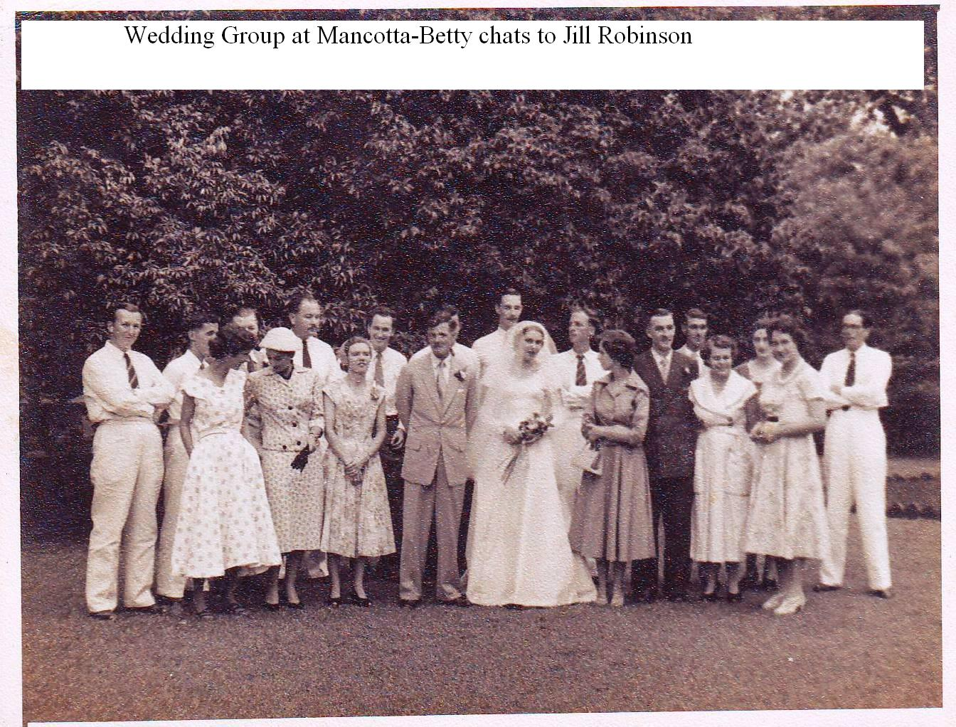 Wedding Group on Mancotta Lawn